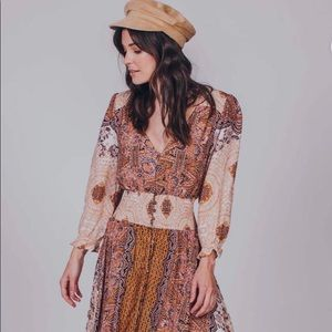 Free People Mexicali Rose Maxi Dress in Tea Combo
